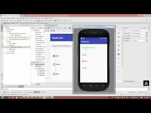 Android Studio 2.2.3 : How to Start Programming - Lesson 4 - Radio Buttons