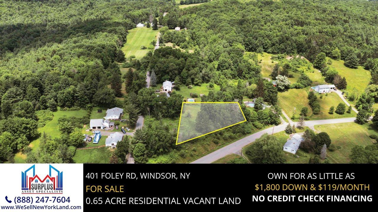 401 Foley Road, Windsor, New York - New York Land For Sale  - www.WeSellNewYorkLand.com