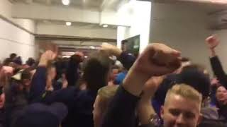 240p WEDNESDAY FANS BOUNCING IN THE CONCOURSE AT BRAMALL LANE, SHEFFIELD UNITED 12/01/18