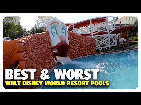 TOP 5 BEST & WORST WDW Resort Pools | Best and Worst | 11/15/17