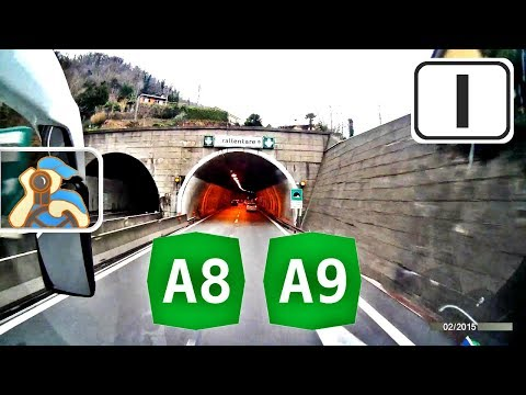 Italia. A8, A9. Milano - ✕ Como