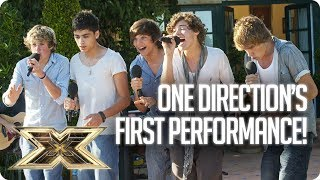 10 years ago! ONE DIRECTION'S FIRST PERFORMANCE TOGETHER! | The X Factor UK