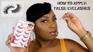 How To Easily Apply False Eyelashes | For Beginners
