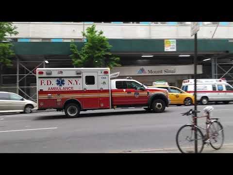 FDNY Ambulance (Ford F550 Wheeled Coach) on Madison Ave, Manhattan NY