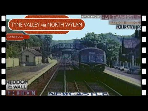 Tyne Valley DMU ride 1963 via North Wylam- line closed 1968