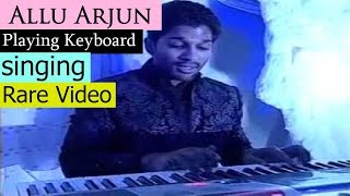 Allu Arjun playing keyboard at Sangeet Function | Rare Video | DJ | NH9 News