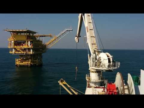 Offshore Cable Laying Operation.