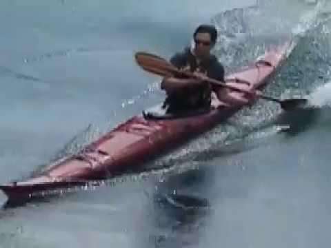 Playboating in a sea kayak