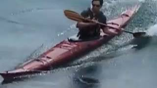 Playboating in a sea kayak