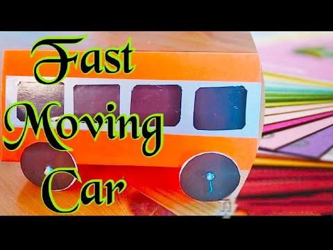 Paper Craft|Fast Moving Car|easy paper crafts .
