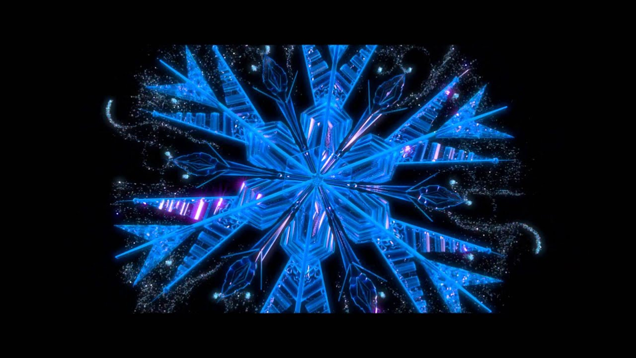 frozen let it go growing snowflake animation