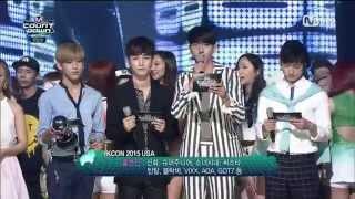 [HD] 150625 Junior & BamBam (GOT7) MC Cut @ M! Countdown