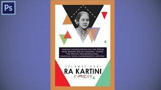 Tutorial Buat Flayer Atau Poster Bertema Hari Ra Kartini #speedart 1