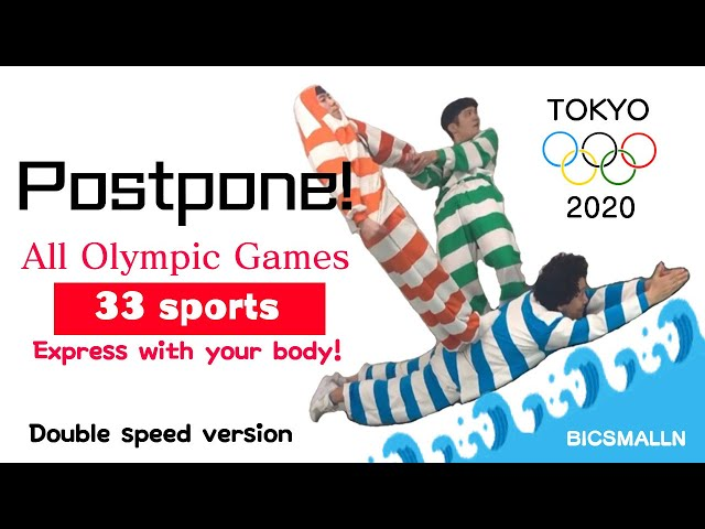 【In 3 minutes】2020 TOKYO OLYMPIC All event 33 Express with your body!