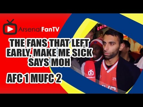 The Fans That Left Early Make Me Sick says Moh [Epic Rant] - Arsenal 1 Man Utd 2