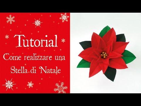 Stella Di Natale Cartamodello.Tutorial Come Realizzare Una Stella Di Natale Youtube