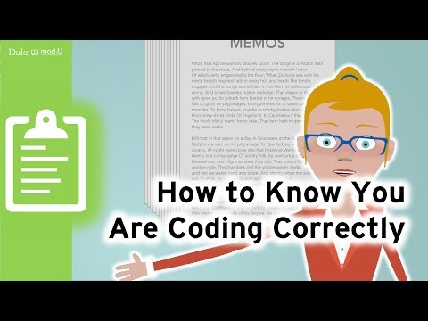 How To Know You Are Coding Correctly: Qualitative Research Methods