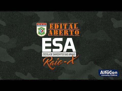 Análise de Edital - ESA 2019 - Edital Aberto - AO VIVO - AlfaCon