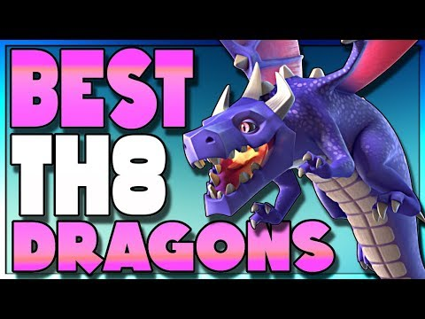 BEST Three Star TH8 Dragon Attack Strategy | DragLoon | Clash Of Clans