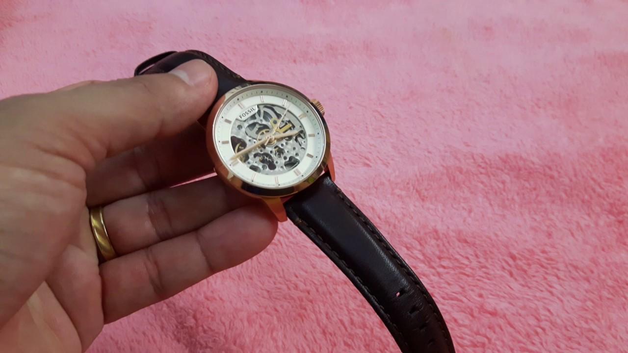 0a7de9d85eb Relógio Fossil ME3078 (Automático). - YouTube