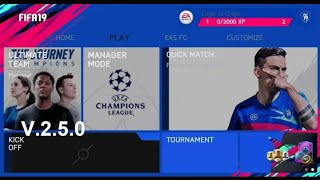 [1GB] FIFA 14 MOD FIFA 19 V.2.5.0 ANDROID OFFLINE NEW FACE KITS & TRANSFER UPDATE  BEST GRAPHICS