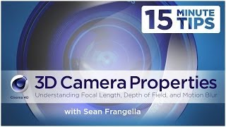 Cinema 4D camera Properties - Depth of Field, Focus Distance and others - Cinema 4D camera Tutorial