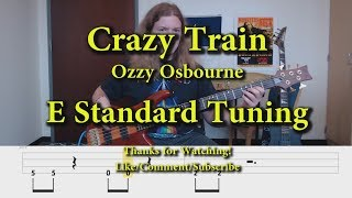 Crazy Train Ozzy Osbourne Bass Cover With Tabs.mp3