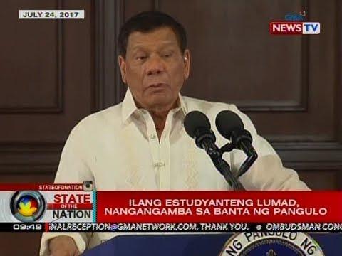 SONA: Ilang Lumad, umalma sa pahayag ng Pangulo na bobombahin ang kanilang mga eskwelahan