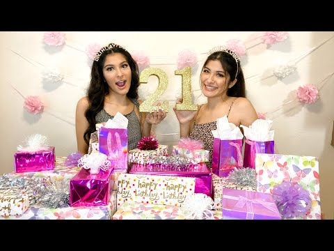 Opening 21 Gifts For Our 21st Birthday *emotional Gift Exchange* | Morales Twins