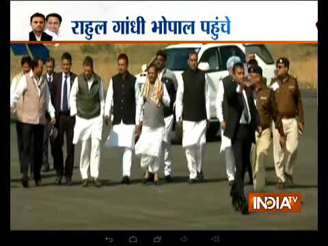 Rahul Gandhi arrives in Bhopal for Kamal Nath's swearing-in ceromony