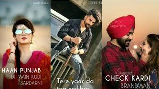 New Punjabi Song Wakhra Swag Ni Full Screen Whatsapp Status 2019 | Female Version | For U Status