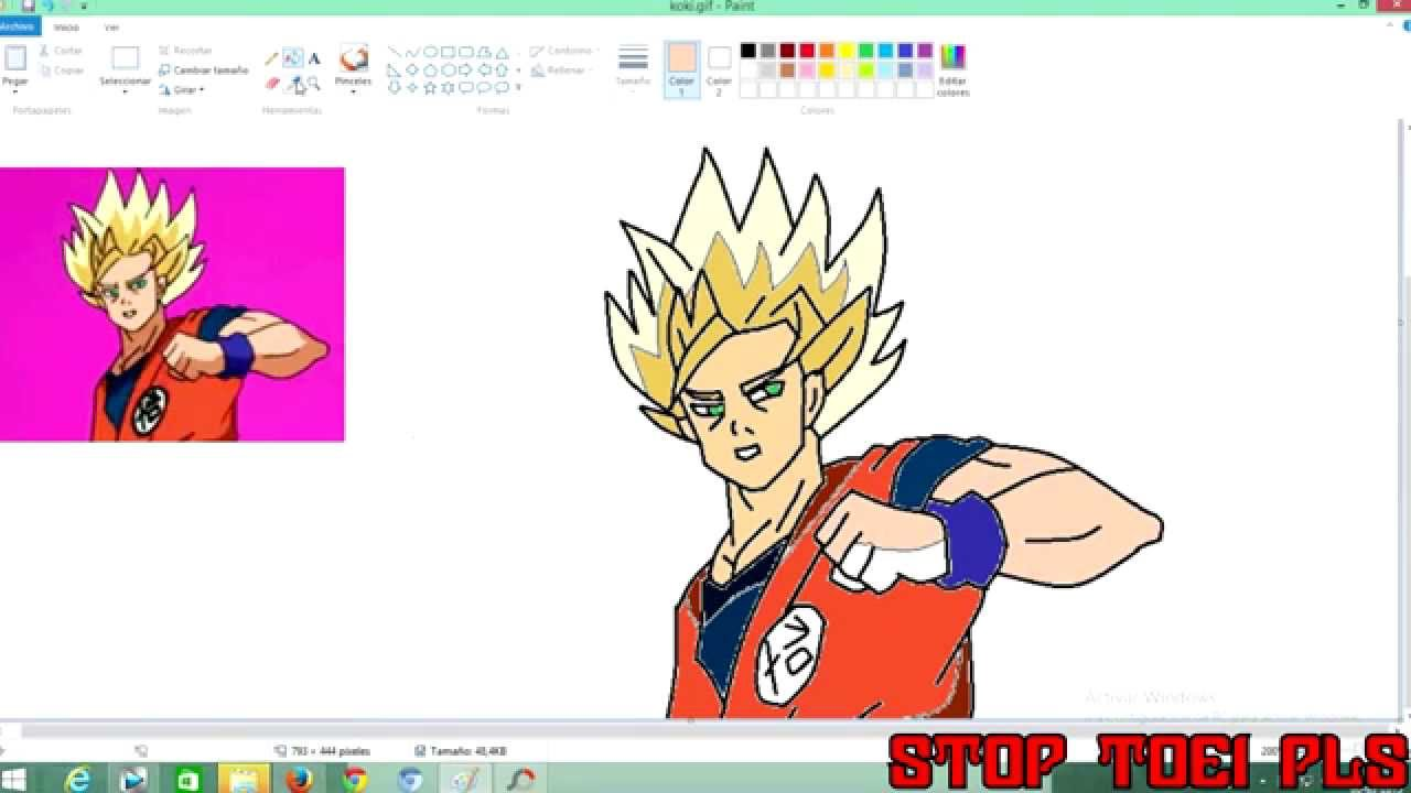 Black Goku To Paint