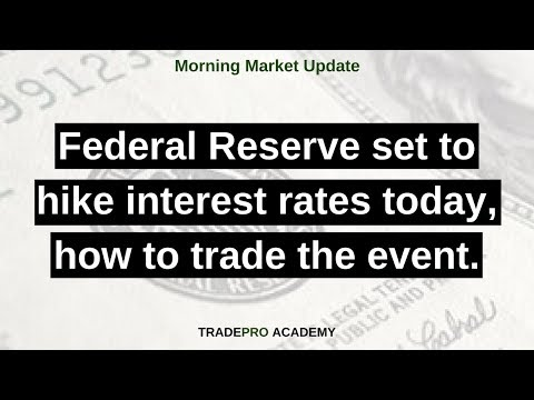 Federal Reserve set to hike interest rates today, how to trade the event.