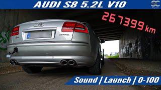 Audi S8 5.2L V10 450hp (2007) - Sound   Launch   0-100   Test Drive POV