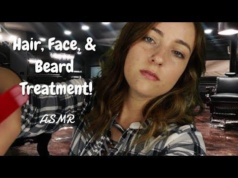 Men's Hair, Face, & Beard Treatment ASMR Roleplay