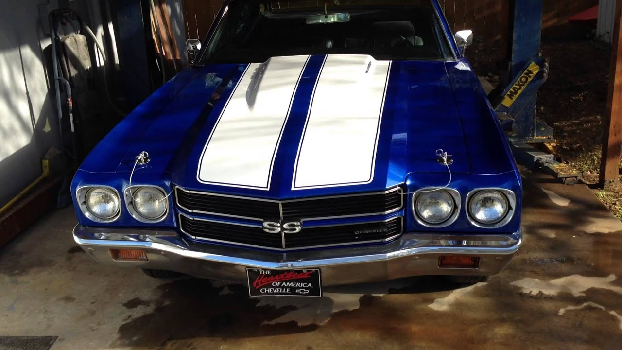 1970 Chevelle Cobalt Blue Ss Clone Youtube