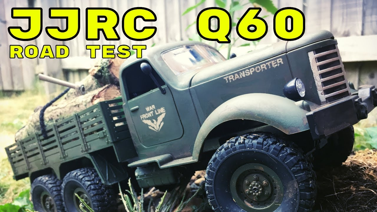 Road Test  JJRC Q60 6x6 1/16 Scale Military RC Truck  Banggood Review