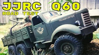 Road Test. JJRC Q60 6x6 1/16 Scale Military RC Truck. Banggood Review