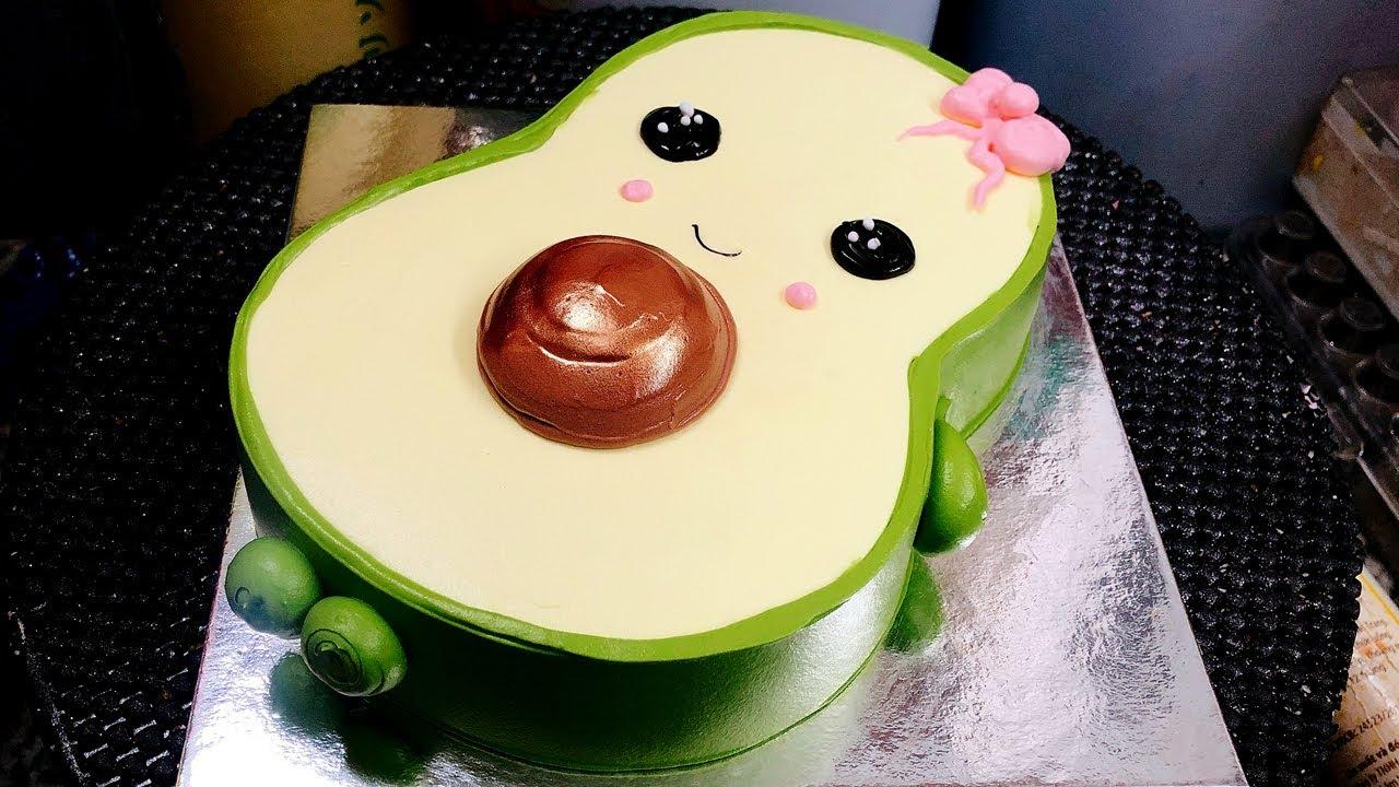 Cake decoration shape avocado - bánh kem-banh sinh nhật trái bơ ( 594 )