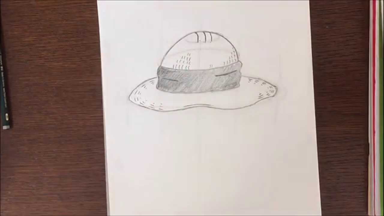 Comment dessiner un chapeau de paille la one piece youtube - Comment dessiner luffy ...