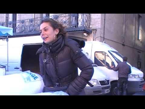Vidéo d'une interaction au marché de Pezenas