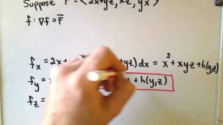 Finding a Potential for a Conservative Vector Field. In this video,...