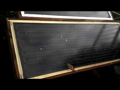 Custom Built Solar Panel Water Heater System for Swimming Pool Using Glass Shower Doors