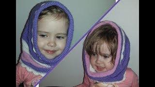 Снуд-шапка  на девочку ( Crochet. Snood)