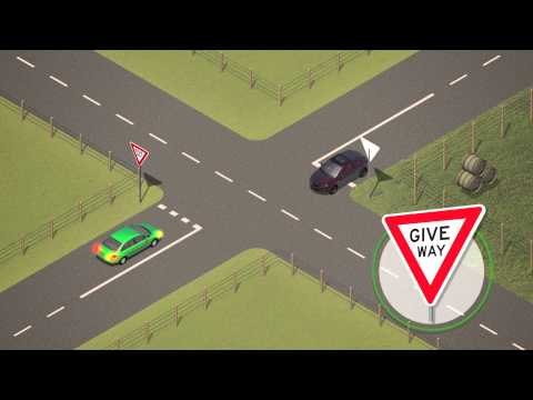 Giving way at intersections - Arabic
