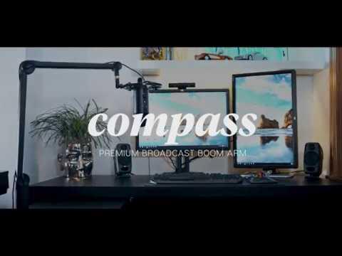 美國 Blue 專屬 Compass Blue 夾式懸臂支架 / 麥克風架 / 精裝鋁製全管式內置彈簧設計
