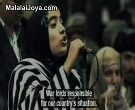 The brave and historical speech of Malalai Joya in the LJ