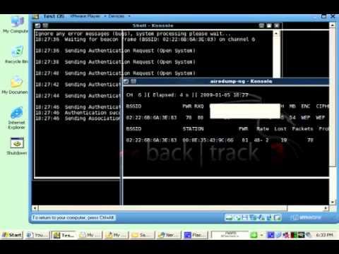 hướng dẫn hack wifi bằng backtrack từ a--- z - hướng dẫn hack pasword wifi từ A tới Z chi 10 phút 2011  flv   YouTube