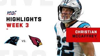 Christian McCaffrey's HUGE Day w/ 153 Yards | NFL 2019 Highlights