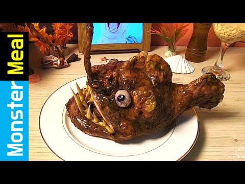 Eating Deep Sea Angler Fish [fictional Video] | Monster Meal ASMR Sounds | Kluna Tik Style